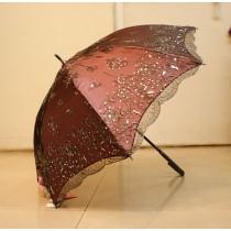 【雨洋工坊X貴婦系列】 刺繡亮片蕾絲巴洛克遮陽傘
