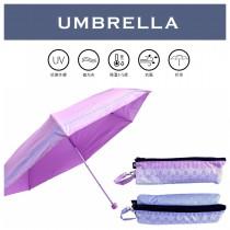 【雨洋工坊x五折迷你傘】巴洛克風格日式提袋傘 -福懋印花 隔熱降溫超迷你五折傘