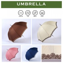 【雨洋工坊X日系淑女傘】刺繡玫瑰花直立傘-玫瑰夫人