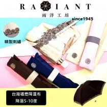 【雨洋工坊x日式合袋系列x反向開收系列x台灣福懋涼感布】刺繡玫瑰花 玫瑰夫人三折傘A01