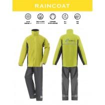 【雨洋工坊X兩件式雨衣】機能登山型兩件式尼龍風雨衣-綠色