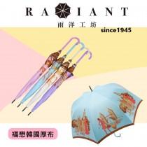 【雨洋工坊】雙面加厚韓國織布仕女遮陽直傘 強降溫隔熱遮陽傘2773