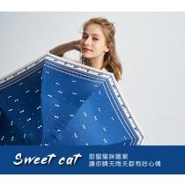 貓咪蝴蝶結黑膠布-直立淑女傘