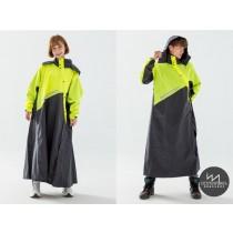 【雨洋工坊X機能雨衣】終結者斜開專利連身式_螢光綠